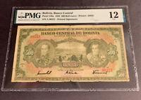 PMG Bolivia, Banco Central 500 Bolivianos 1928 p126a Fine12