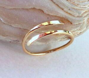 Toe-Midi-Knuckle Swirl Minimalist Ring Adjustable size