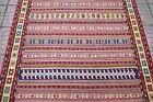 Caucasian Sumac Kilim 4'2'' x 6'4'' ft Fine Quality Sumac Woven Wool Kilim Rug