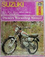 SUZUKI TRAIL BIKES 89cc to 396c OWNERS WORKSHOP MANUAL 1971 ON, NO218 by haynes