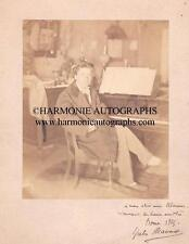 JULES MASSENET - Composer earliest autographed photograph - Rome- 1865