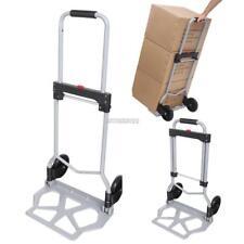 220 Lbs Luggage Cart Aluminium Folding Dolly Push Hand Truck Travel Durable Tool