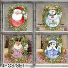 Christmas Wall Stickers Removable Santa Vinyl Decal Home Xmas Decoration