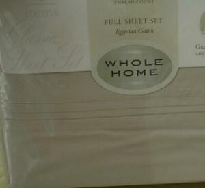 Whole Home Sheet Set - BRAND NEW PACKAGE - Egyptian Cotton 350 TC VARIOUS COLORS