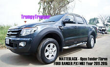 MATTE BLACK FENDER FLARES WHEEL ARCH FOR FORD RANGER PX WILDTTRAK 2012 2013 2014
