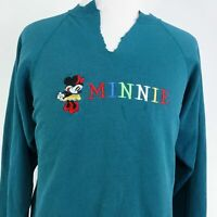 VTG MINNIE MOUSE SPELL OUT LOGO BOOTLEG EMBROIDERED SWEATSHIRT SIZE XL HANES