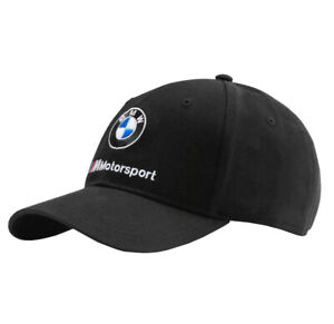 PUMA BMW M Motorsport BB Sports Car Black Dad Cap Logo Strap Back Baseball Hat