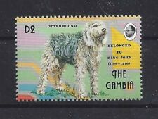 Dog Art Body Portrait Postage Stamp Otterhound Otter Hound The Gambia Mnh