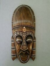 Tiki Mask Face Indonesia painted Collectible Cultures & Ethnicities Home Decor