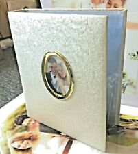 """Photo Album 3 RINGS LEATHER 2 up 5"""" X 7"""" with 50 pages holds 200 photos"""