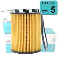 SET OF (5) Oil Filters For Dodge Dart Fiat 500 500L 500X Jeep Renegade 1368cc l4