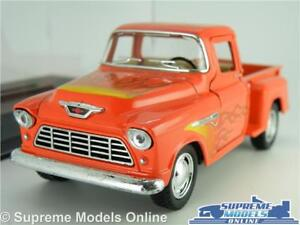 CHEVROLET STEP SIDE MODEL PICK UP TRUCK 1:32 SCALE RED & FLAME GRAPHICS +CASE K8