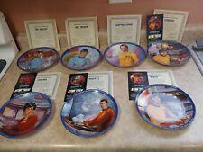Set of 7 Star Trek 1983 Hamilton Plates with Original Boxes and Coa's