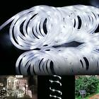 7M Solar Powered 23ft 50LED Fairy Lights Strip IP68 Outdoor Stage Decor White BA