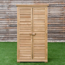 Tall Garden Storage Shed Wood Outdoor Large Heavy Duty Patio Tool Organiser 63in