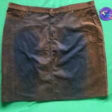 NEW Jypsy Jeans Women's Skirt Plus Size 24 2X 3X Brown Black Stretch Cotton