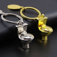 New 1Pcs Mini Alloy Toiliet Closestool Keyring Keychain Pendant Novelty Key Ring