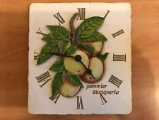 Attractive Ceramic Battery Operated Wall Clock - Apple Design