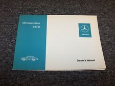 1974-1975 Mercedes Benz 240D Diesel Original Owner Owner's Operator Guide Manual