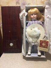 Nib 14� Dynasty Doll Anna Collection Maree Porcelain Doll W/ Stand