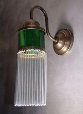 Lampada Parete Applique Ottone Interno Vetro Luce Illuminazione Stile Vintage