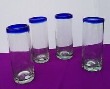 HAND BLOWN HIGHBALL MOJITO COBALT SET ***PROMOTION**$11.99 Flat Rate Shipping**