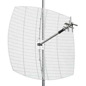 Parabolic MIMO antenna 800-2700 MHz gain 27 dB. Reflector+feeder+mount set