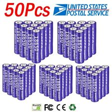 Lot Skywolfeye 18650 Battery 3.7V Li-ion Rechargeable Batteries for LED Torch US