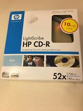 Lightscribe HP CD-R 52x Media 700 MB Data 80 Min 10 Pack
