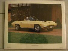 1967 Chevrolet Corvette LARGE Color Poster c1978 Excellent Original Condition