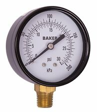 Baker LVBNA-30P Pressure Gauge, 0-30 PSI / 0-200 kPa
