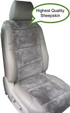 SHEEPSKIN SEAT COVERS AUSTRALIAN ONE SEAT VEST INSERT STEEL GREY BEST QUALITY ©