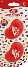 Jelly Belly DUO Vent Two Pack VERY CHERRY Jelly Bean 3D Car Air Freshener NEW!