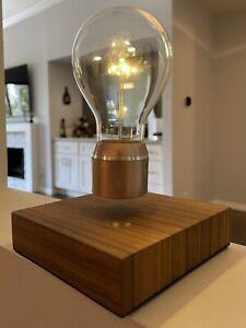 Genuine Buckminster FLYTE Floating Levitating LED Light Bulb, Walnut/Copper