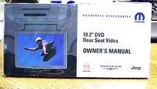 "2007- 2016 JEEP DODGE CHRYSLER 10.2"" DVD REAR SEAT VIDEO OWNERS MANUAL"
