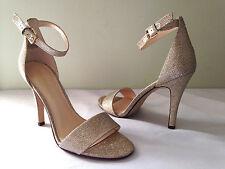 NEW Nine West Gorgeous Gold NW7 AURELIA Ankle Strap Classic Heels 8.5 M $135