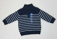 The Children's Place 3 Button Sweater - Boys 18-24m - Navy + Grey - NWT