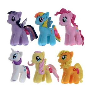 My Little Pony Soft Toy Small Plush Pinkie Pie Rainbow Dash Licensed 7 inch