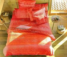 Completo Lenzuola Matrimoniale Brunelleschi Arancio Rosso Granfoulard Bassetti
