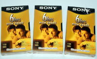 Lot of 3 New Factory Sealed SONY High Grade T-120 Blank VHS 6 Hr T-120VHGL Tapes