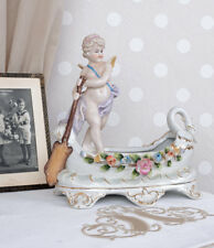 ENGEL ANTIK AMOR GONDOLIERE PORZELLAN ENGELFIGUR Vintage PORZELLANFIGUR Venedig
