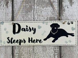 Personalised Dog Plaque Sign Hand Made Pet Gift, Dog Bed Labrador Home Large