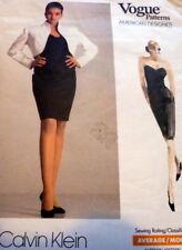 *VTG DRESS & BOLERO VOGUE DESIGNER CALVIN KLEIN Sewing Pattern 6-8-10