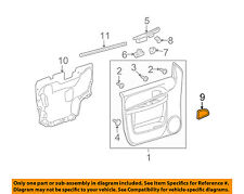 GM OEM Front Door-Handle Bezel Left 15844059