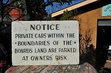 MMTB.Parking notice sign