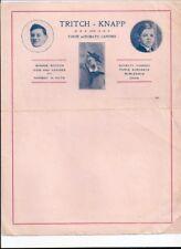 Tritch - Knapp - Three Acrobatic Canines -Vaudeville Dog Act Letterhead 1910