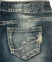 Silver Jeans Tuesday Capri 24 x 22L Distressed/Destroyed Jeans ~Fabulous