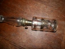 Clear Patriotic Oil Lamp, Measures 10 inches High, 2 in. Wide, Gold Trim