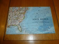 NORTH AMERICA - National Gegraphic MAP - ATLAS PLATE 17 - April 1964
