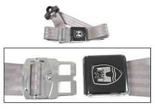 3-Point Seat Belt, Grey, Black Buckle 50-67. VW Split Screen Camper Van